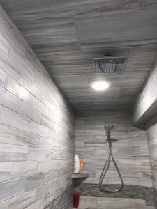 Flow Rectified Porcelain Tile Shower