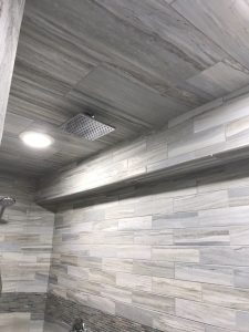 Flow Rectified Porcelain Tile Shower - Elysium Jewel Accent
