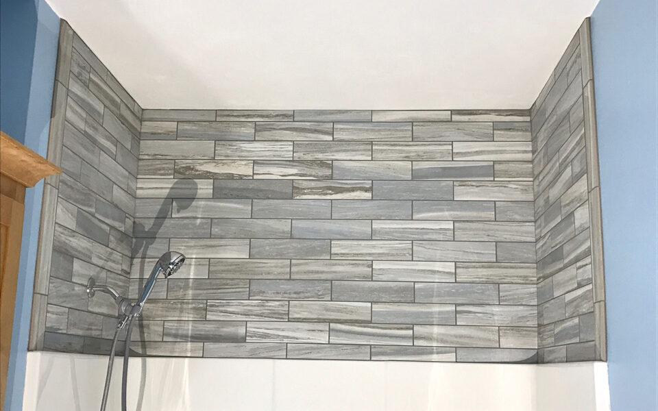 Flow Rectified Porcelain Tile Shower